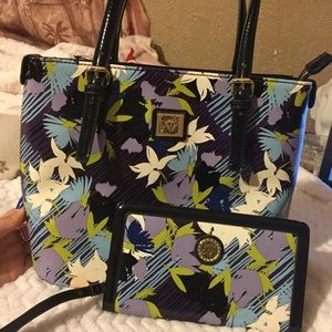 Anne Klein tote and wallet